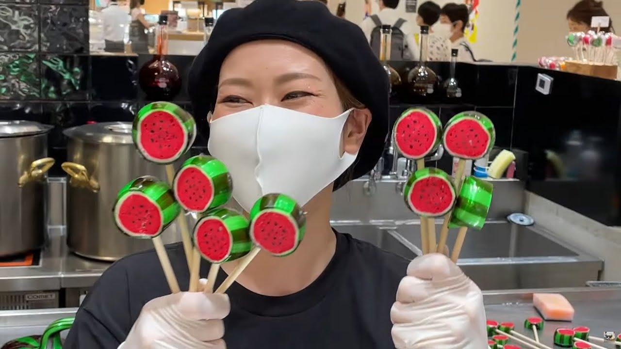 [製造風景]史上最高のスイカキャンディの作り方【必見】