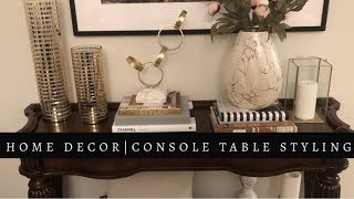 Home Decor Inspiration | How To Style A Console Table