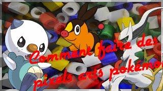 [Tuto] Comment faire un pixel art pokémon en perles hamas ! :D -gruikui.
