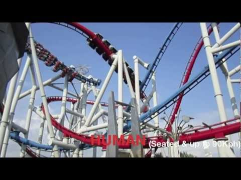 Universal Studios Singapore Battlestar Galactica roller coaster ride - Sentosa Island things to do