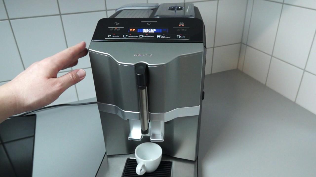 siemens eq 3 kaffeevollautomat im alltags test youtube. Black Bedroom Furniture Sets. Home Design Ideas