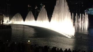 Dubai dancing fountain Baba Yetu