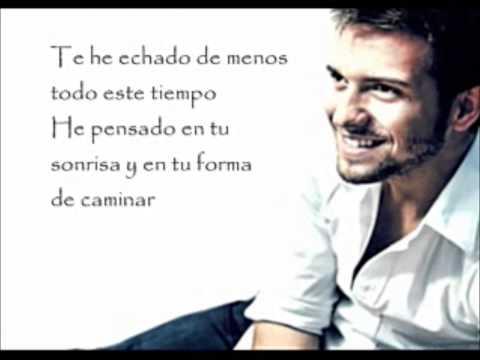 Lyrics  Te He Echado De Menos  Pablo Alborán