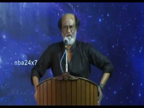 Rajani fans meeting,R rajanikanth full speech