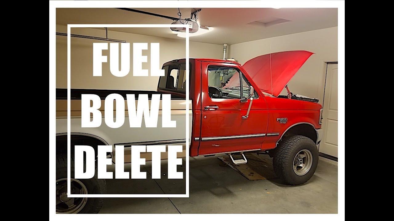 obs powerstroke fuel bowl delete 1994 1997 f250 f350 [ 1280 x 720 Pixel ]