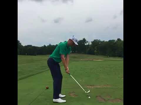 Justin Thomas Hitting 6 Iron - Down the line