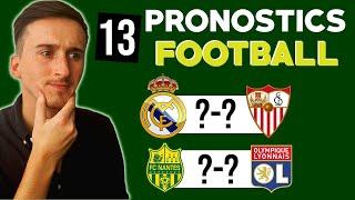 TOUS LES PRONOSTICS FOOTBALL DU SAMEDI 18 !! 13 paris sportifs et que des grosses cotes