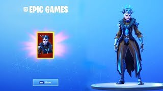 "(NEW) HAVE THE NEW LEGENDARY SKIN ""REINE OF GLACES"" FREE ON FORTNITE! 😱"