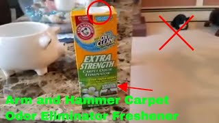 ✅  How To Use Arm and Hammer Carpet Odor Eliminator Freshener Review