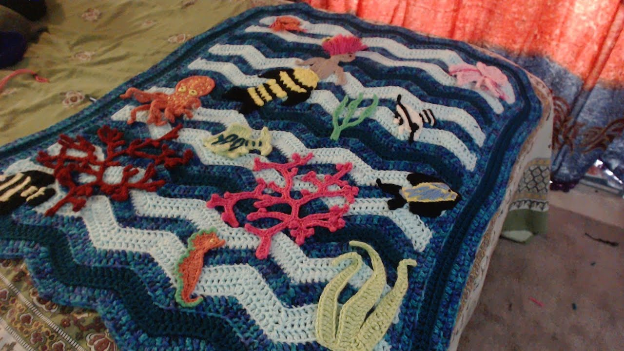 Ocean Ripple Crochet Baby Blanket - YouTube