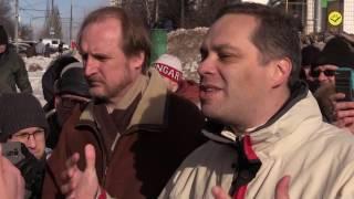 Незаконный снос гаражей в Ясенево. Митинг