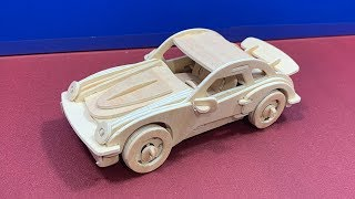 DIY 3D Wooden Puzzle Car