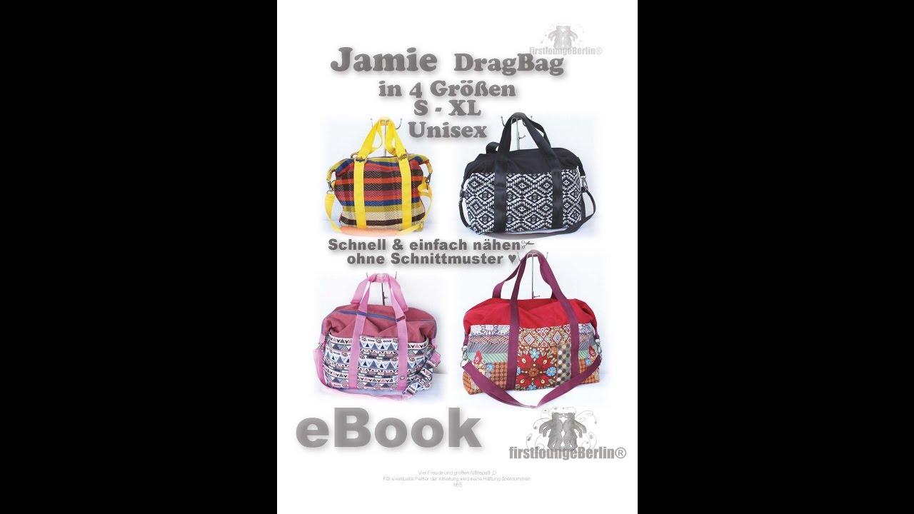 Jamie Bag Sporttasche XS - XL 4 Größen nähen Dufflebag, gefüttert ...