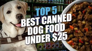 Top 5 Best Canned Dog Food under $25 | Top Dog Tips