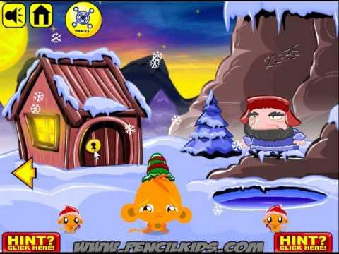 Monkey GO Happy North Pole. Walkthrough / Счастливая обезьянка. Северный полюс. Прохождение