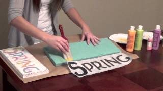 This video is not available. DIY Home Decor Distressed Painted Sign
