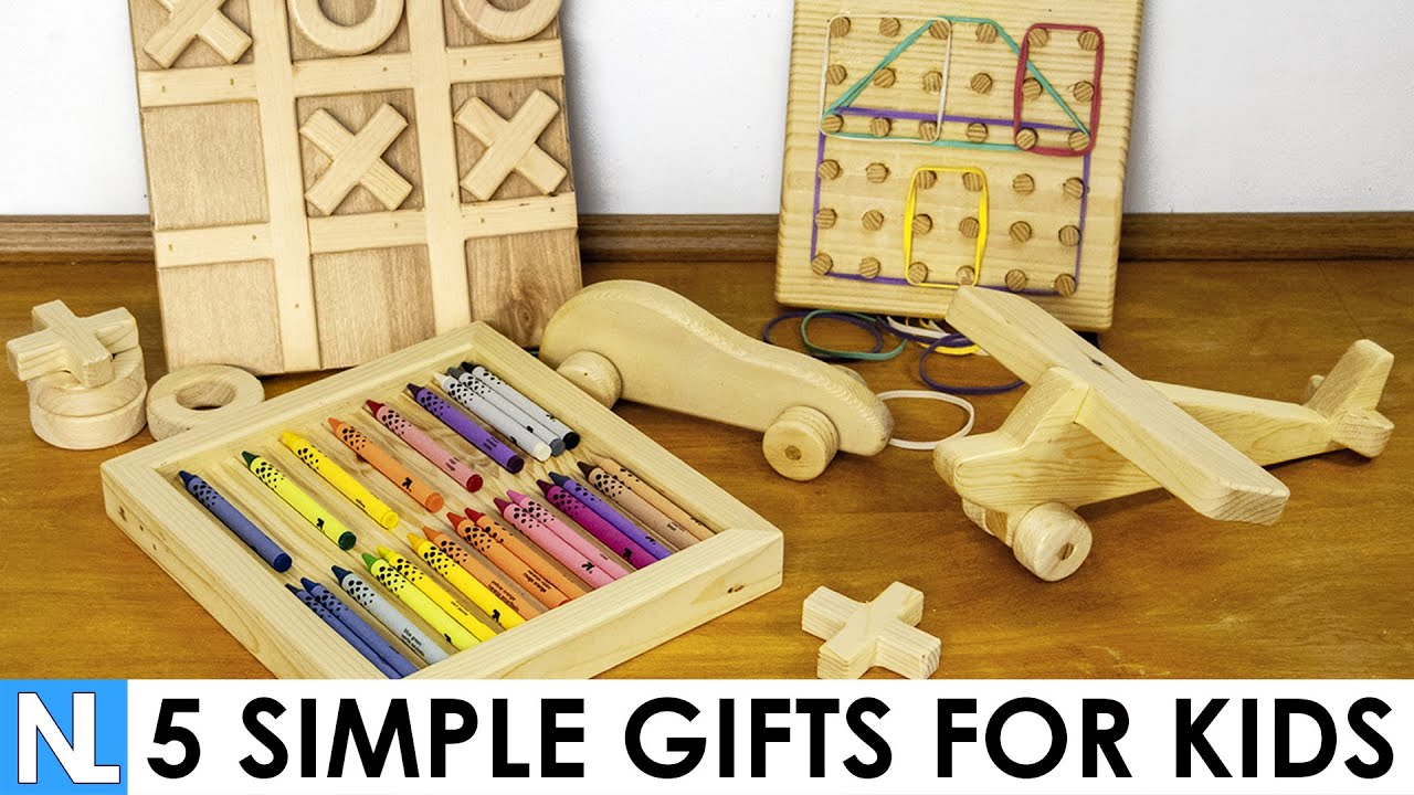 5 Simple Gifts Made From Wood For Kids Diy Woodworking Youtube