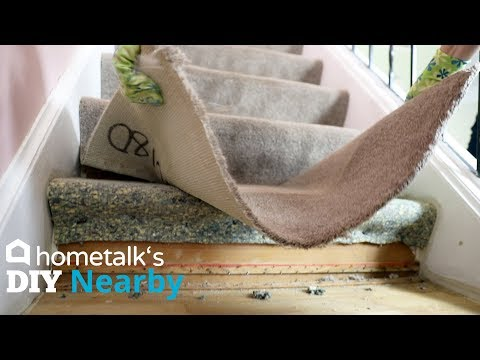 Staircase + Entryway Makeover For $400 | DIY Nearby | Hometalk