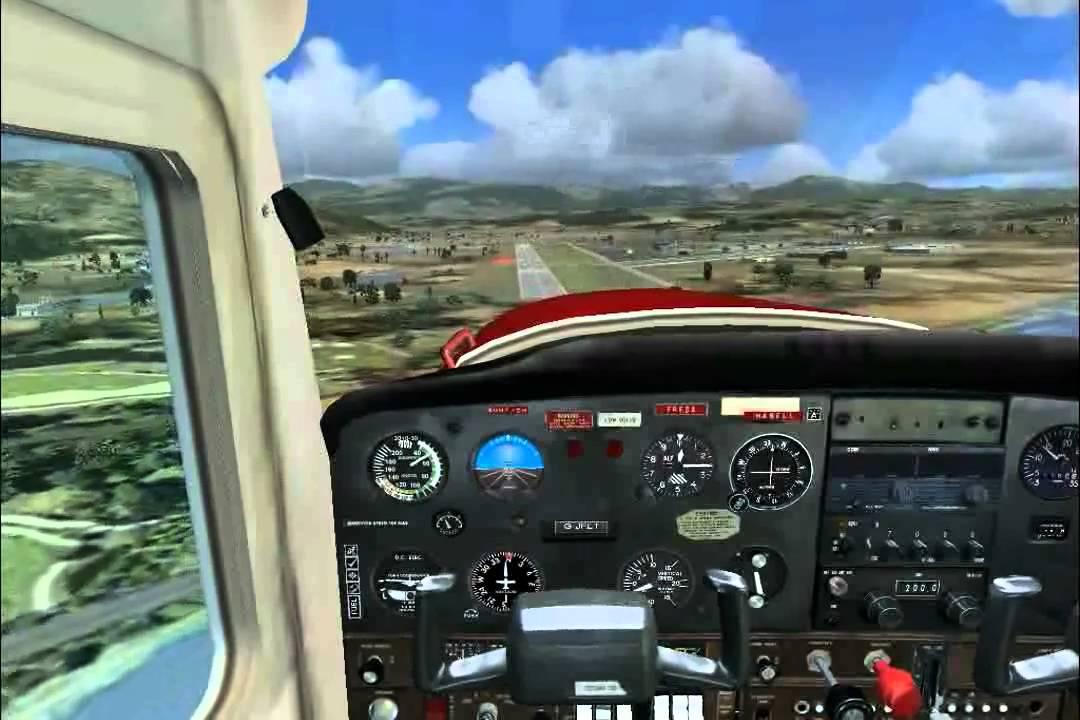 FSX - Cessna 152 Landing at Cannes-Mandelieu Airport