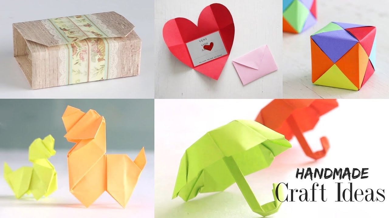 5 handmade craft ideas paper craft tutorial do it yourself youtube 5 handmade craft ideas paper craft tutorial do it yourself ventuno art solutioingenieria