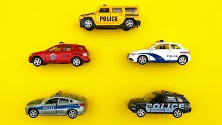 Police Cars Learn Colors Police Series Unboxing Police Cars Cartoon for Kids Nursery Rhymes Songs