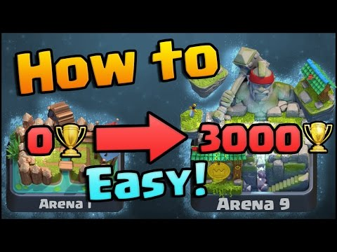 Clash Royale - How to get to Arena 9 Legendary Arena | Best F2P Tips, Strategy, and Decks!