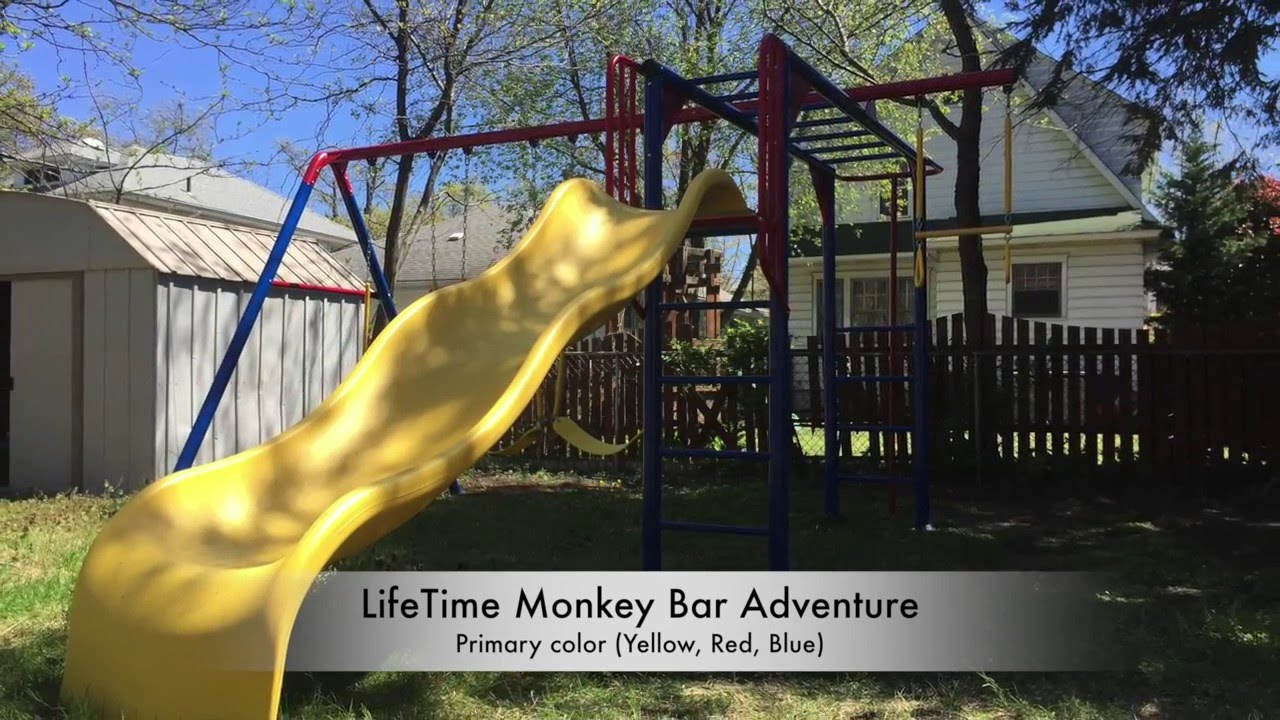 Lifetime Monkey Bar Adventure Swing Set Youtube