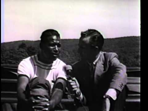 Sugar Ray Robinson in training, sparring and an interview with Chris Schenkel Carmen Basilio fight