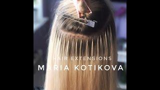 Наращивание волос, итальянская технология наращивания волос, микрокапсулы. hair extensions