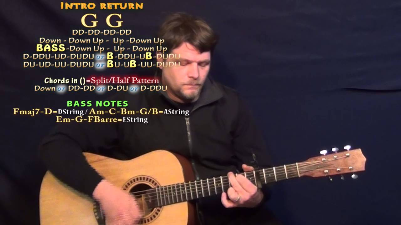 Think Of You Chris Young Guitar Lesson Chord Chart Capo 4th
