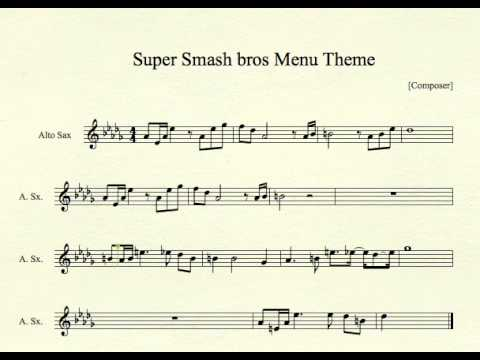 Super Smash Bros Menu Theme for Alto Sax - YouTube