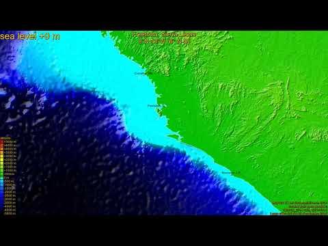 Freetown, Sierra Leone, (z+c) sea level rise -135 - 65 m