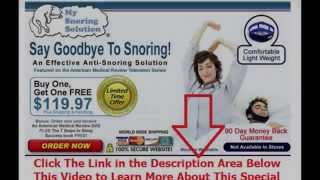 ways to help stop snoring | Say Goodbye To Snoring