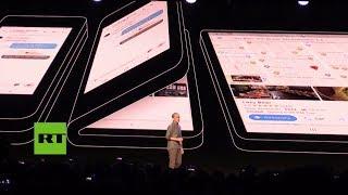 Samsung presenta su móvil con pantalla plegable en San Francisco