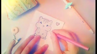 ♥How To Draw Cute Hamster♥