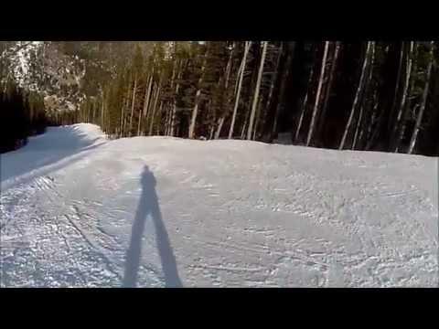 Sunny February Snowboarding Eldora Mountain Colorado 2015