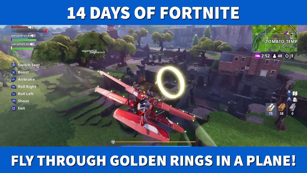 Fly Through Golden Rings In An X 4 Stormwing Plane All Locations