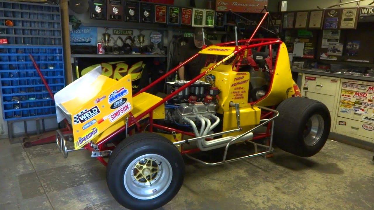 E z start sprint car starting system youtube for Garage sprint auto stains