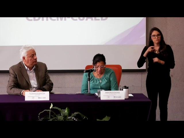 Discurso de la Presidenta de #CDHCM, Nashieli Ramírez, en presentación cursos en línea CUAED UNAM