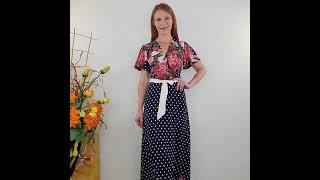 Длинное платье в пол с поясом