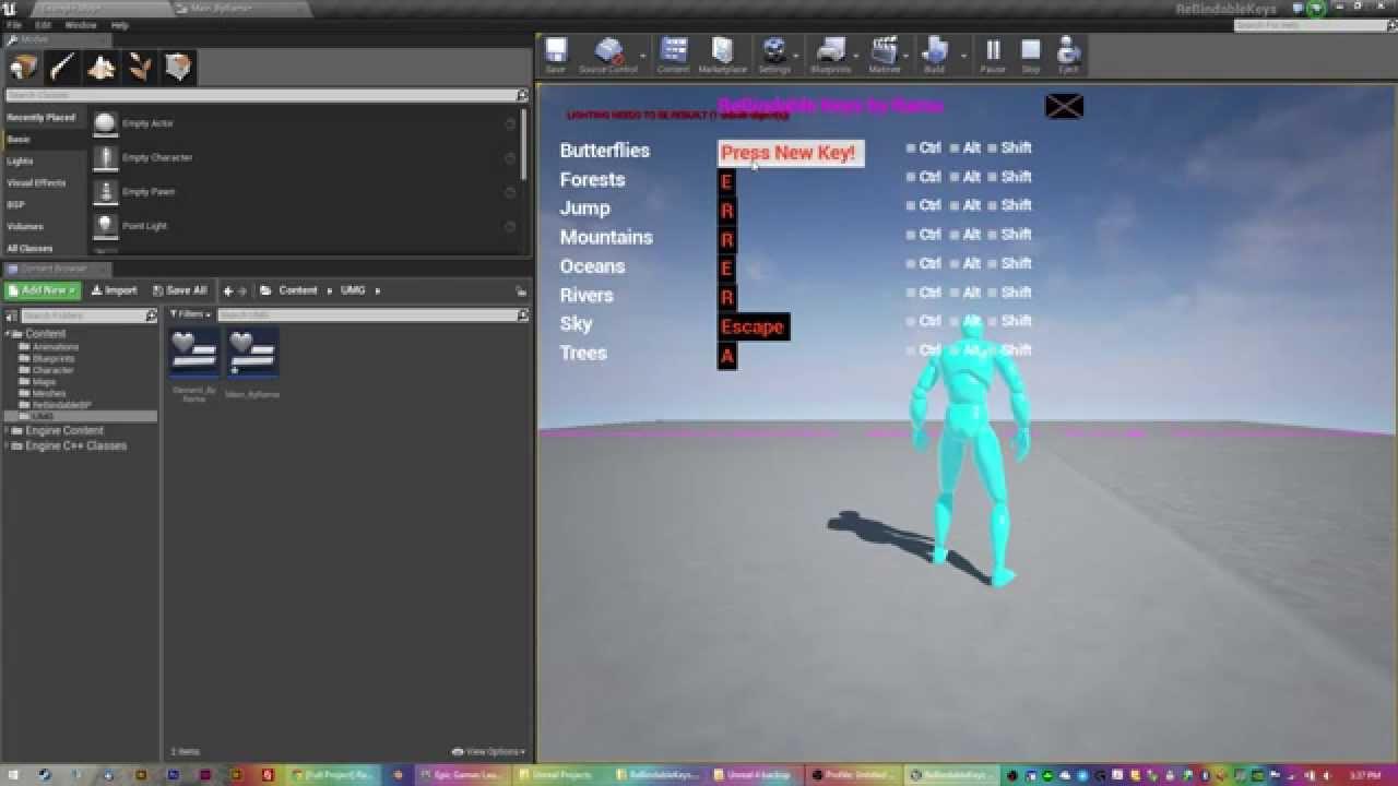 Change input keybind config via blueprints tutorial using umg change input keybind config via blueprints tutorial using umg unreal engine 4 47 malvernweather Choice Image