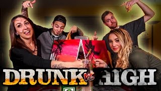 DRUNK vs HIGH | PAINTING CHALLENGE!!