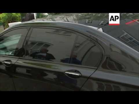 Tony Blair leaves house as Inquiry results due