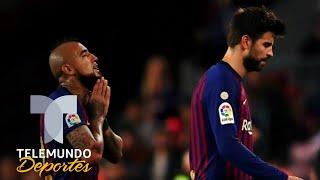 El fuerte reclamo de Arturo Vidal a Gerard Piqué | La Liga | Telemundo Deportes