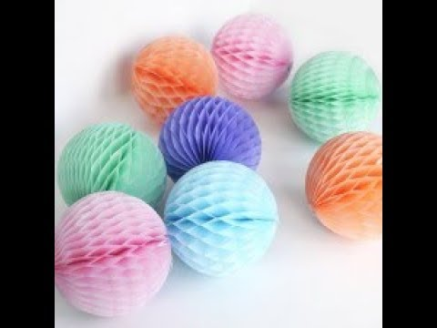 Paper Crafts  DIY Hacks How to make a Paper Honeycomb Ball Wabenball