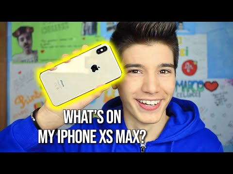 WHAT'S ON MY IPHONE XS MAX? | Marco Cellucci