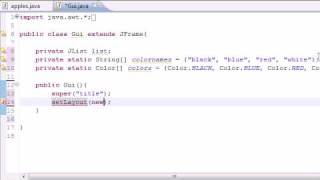 Java Programming Tutorial - 70 - JList