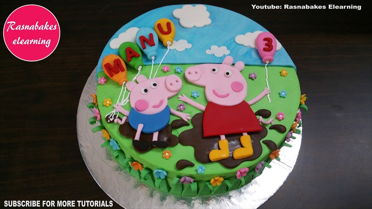 Peppa Pig George Pig Birthday Cake Design Ideas For Children Boys Girls Kids Decorating Tutorial Youtube