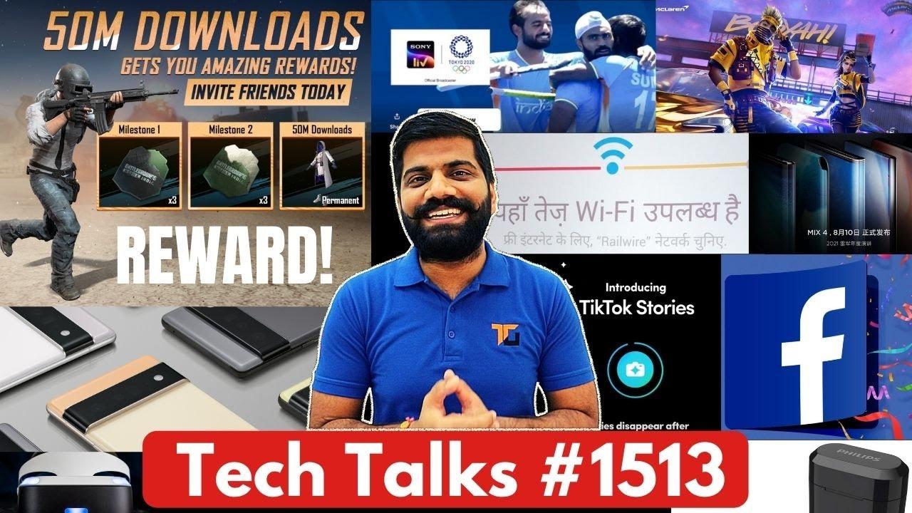 Tech Talks #1513 - BGMI 50Mn Rewards, Shocking News Of Gaming, Mi Mix 4, Galaxy A52s, HTC TabletA100