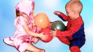 МАЛЬЧИК МАКСИМ И СЕСТРА Учим цвета с ЦВЕТНЫМИ ВОЗДУШНЫМИ ШАРАМИ Видео для детей #смешное видео